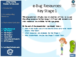 e -Bug Resources: PowerPoint PPT Presentation