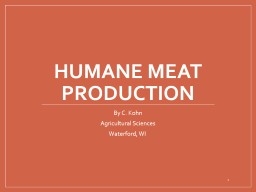 Meat PowerPoint PPT Presentation