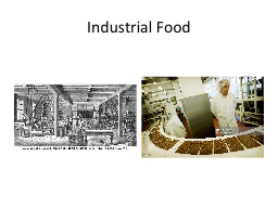Industrial Food PowerPoint PPT Presentation