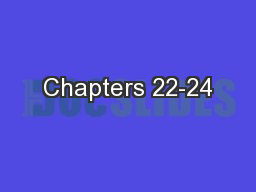 Chapters 22-24