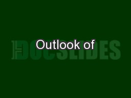Outlook of