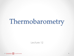 Thermobarometry