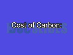 Cost of Carbon: