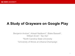 A Study of Grayware on Google Play