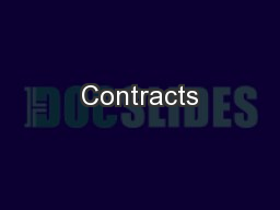 Contracts PowerPoint PPT Presentation