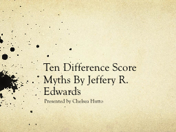 Ten Difference Score PowerPoint PPT Presentation