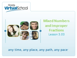 Mixed Numbers and Improper Fractions PowerPoint PPT Presentation