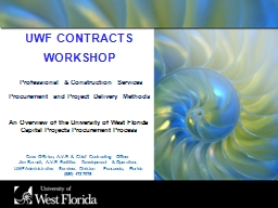 UWF CONTRACTS WORKSHOP