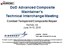 DoD Advanced Composite Maintainer's