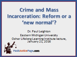 Crime and Mass PowerPoint PPT Presentation