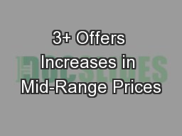 3+ Offers Increases in Mid-Range Prices
