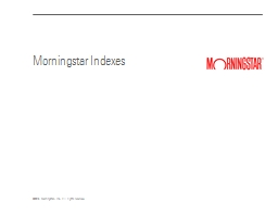 Morningstar Indexes