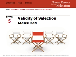 Validity of Selection Measures