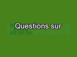 Questions sur PowerPoint PPT Presentation