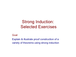 Strong Induction: PowerPoint PPT Presentation