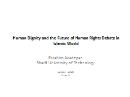 Human Dignity and the Future of Human PowerPoint PPT Presentation