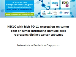 NSCLC with high PD-L1 expression on tumor cells or tumor-in