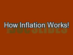 How Inflation Works!