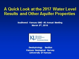 A Quick Look at the 2017 Water Level