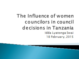 The Influence of women councilors in council decisions