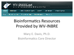 Bioinformatics Resources