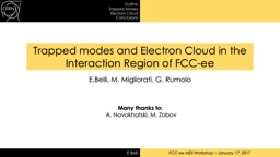 Trapped modes and Electron Cloud in the Interaction Region