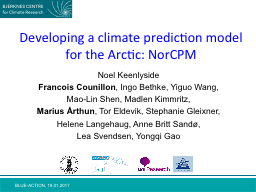 Developing a climate prediction model for the Arctic:
