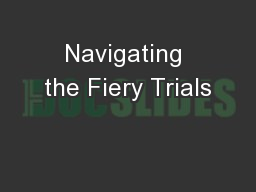 Navigating the Fiery Trials