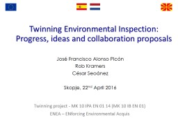 Twinning Environmental Inspection: PowerPoint PPT Presentation