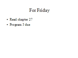 For Friday PowerPoint PPT Presentation
