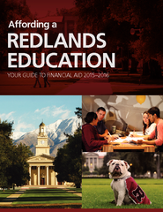 REDLANDS EDUCATION YOUR GUIDE TO FINANCIAL AID  Afford
