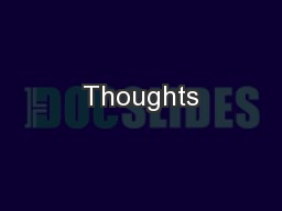 Thoughts PowerPoint PPT Presentation