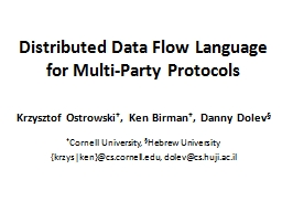 Distributed Data Flow Language PowerPoint PPT Presentation