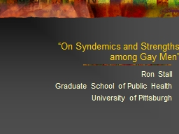 """On Syndemics and Strengths"