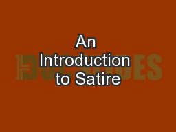 An Introduction to Satire