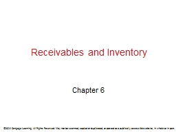Receivables and Inventory PowerPoint PPT Presentation