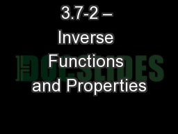 3.7-2 – Inverse Functions and Properties