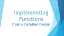 Implementing Functions