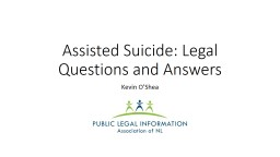 Assisted Suicide: Legal Questions and Answers