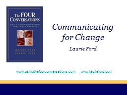 Communicating for Change PowerPoint PPT Presentation