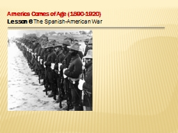 America Comes of Age (1890-1920) PowerPoint PPT Presentation