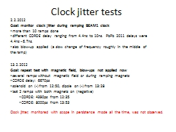 Clock jitter tests