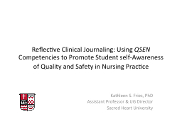 Reflective Clinical Journaling: Using