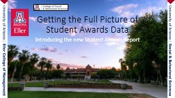 Introducing the new Student Awards Report