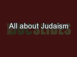 All about Judaism