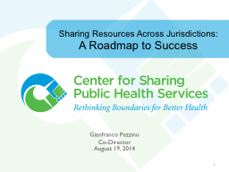 Sharing Resources Across Jurisdictions: PowerPoint PPT Presentation