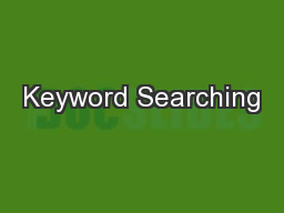 Keyword Searching