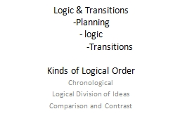 Logic & Transitions