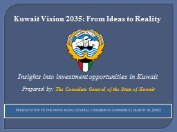 Kuwait Vision 2035: From Ideas to Reality
