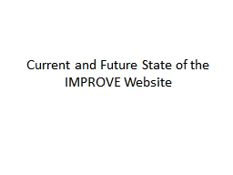 Current and Future State of the IMPROVE Website